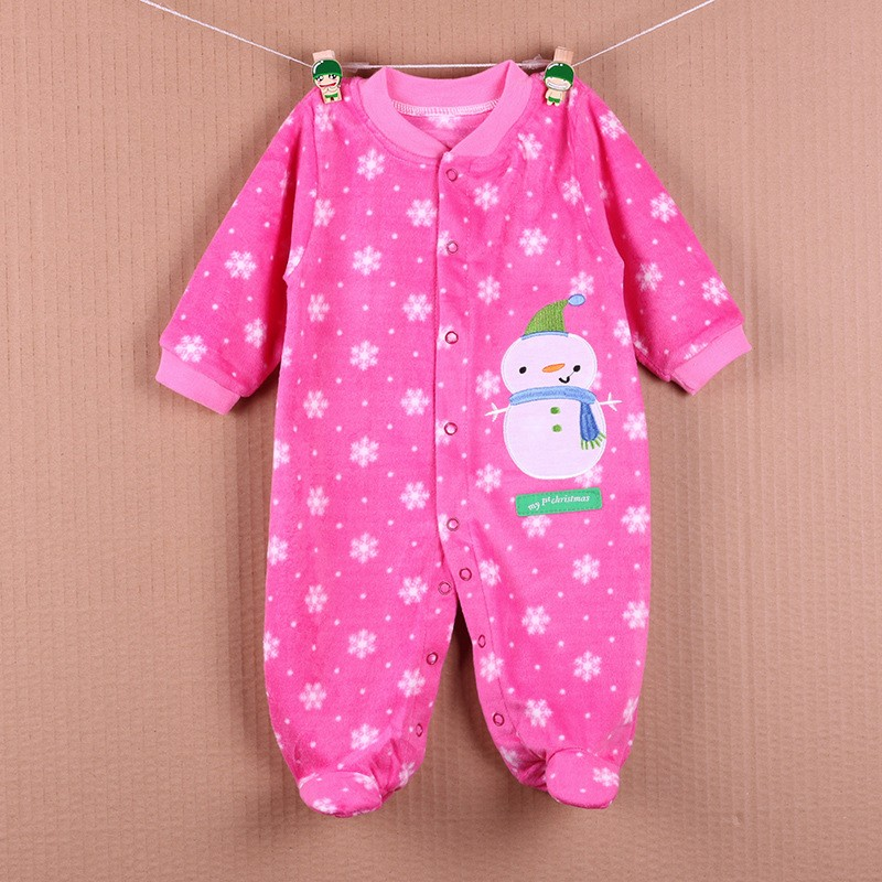 New Arrival Baby Footies Boys&Girls Jumpsuits Spring Autumn Clothes Warm Cotton Baby Footies Fleece Baby Clothing Free Shipping (31)