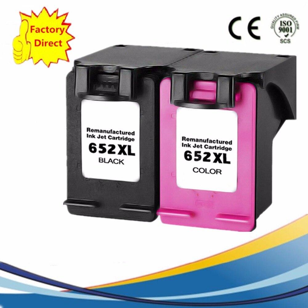 2 Pk 652 XL 652XL Tintenpatronen Remanufactured Für HP 652 HP652 Deskjet Vorteil 1015 1515 2515 2545 2645 3515 3545 4515 4645