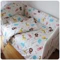 Nueva moda sistemas del lecho del pesebre para los niños, cunas para lindos animales de la impresión juegos de cama, cuidado del bebé cama cuna lecho 7 unids/set