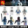 8 UNIDS MG8001 Star Wars Boba Fett Verde bebé bloques niños juguetes Compatible con Lepin