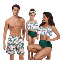 Mother Daughter Father Son Clothes Dresses High Waist Family Matching Swimwear Beachwear Mom And Me Swimsuit