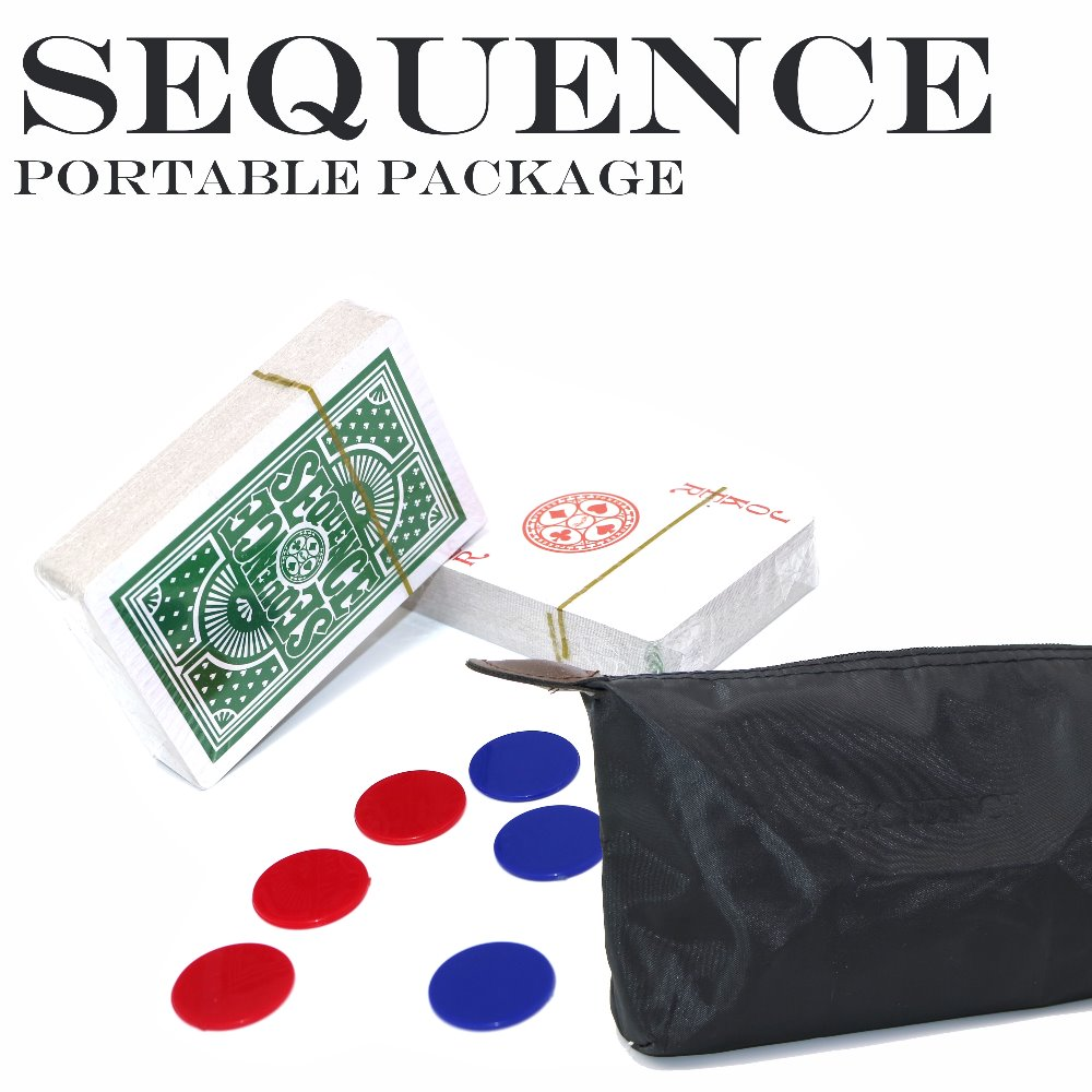 English Sequence board game cards for family party kids table playing Selva juego
