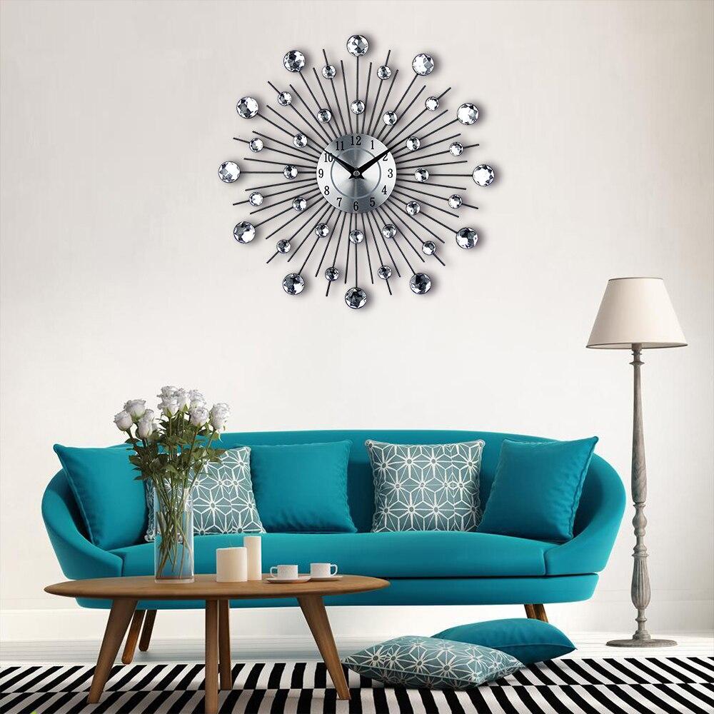 Vintage Μεταλλικά τέχνης ρολόι τοίχων - Διακόσμηση σπιτιού - Φωτογραφία 5