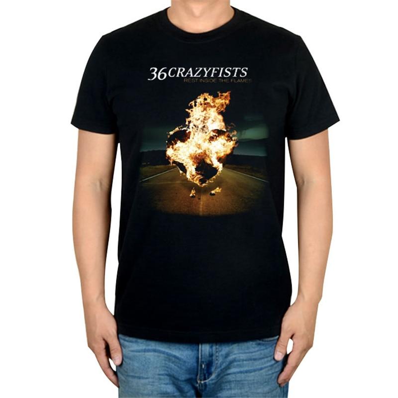 10 видов стилей Harajuku милые 36 crazyfists панк-рок белый черный рубашка ММА фитнес хлопок тяжелый металл Футболка с принтом Тис мяч - Цвет: 6