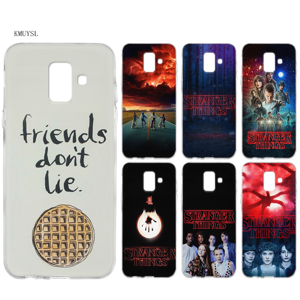 KMUYSL stranger things poster TPU Silicon Clear Soft Case <font><b>Cover</b></font> Shell for <font><b>Samsung</b></font> Galaxy A6 A8 Plus J6 J4 J8 2018 image
