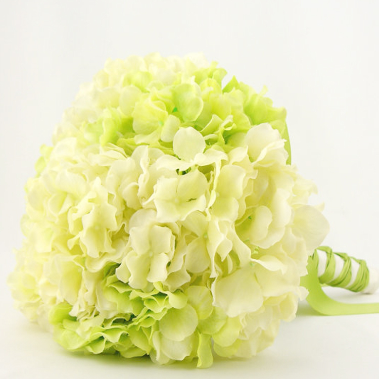 Artificial flower silk flower wedding flower bride holding flowers guelder white and green