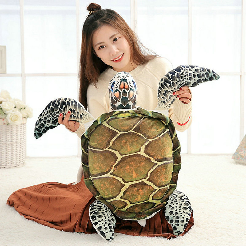 40-60cm 2018 New Style summer sea Tortoise plush toys stuffed soft PP Cotton pillow Cushion Turtle doll Christmas present kids hand warm birthday gift christmas present 45cm cute rabbit head plush pillow stuffed soft pp cotton cushion rabbit plush toys