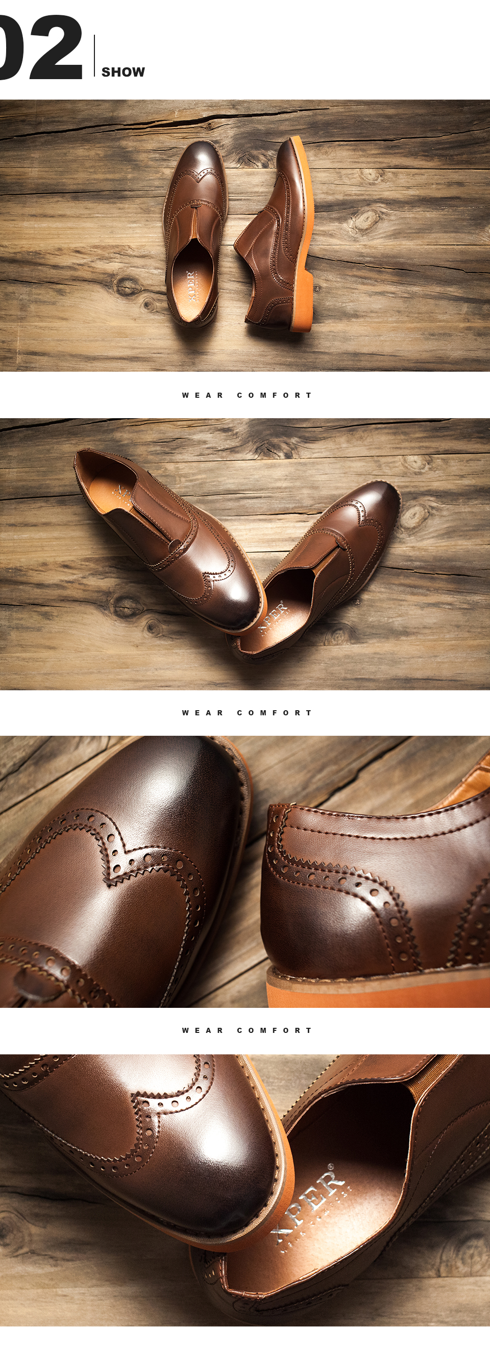 XPER Brand Fashion Men Loafers Brogue Business Shoes Men Casual Dress Shoes Retro Footwear Male Shoes Wear Comfortable #XAF86761