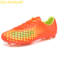 Sports Shoes Outdoor boys Soccer Boy Footballs for kids Soccer Boots Cleats Football Shoes For Sale Sneakers Long Spikes 35 44