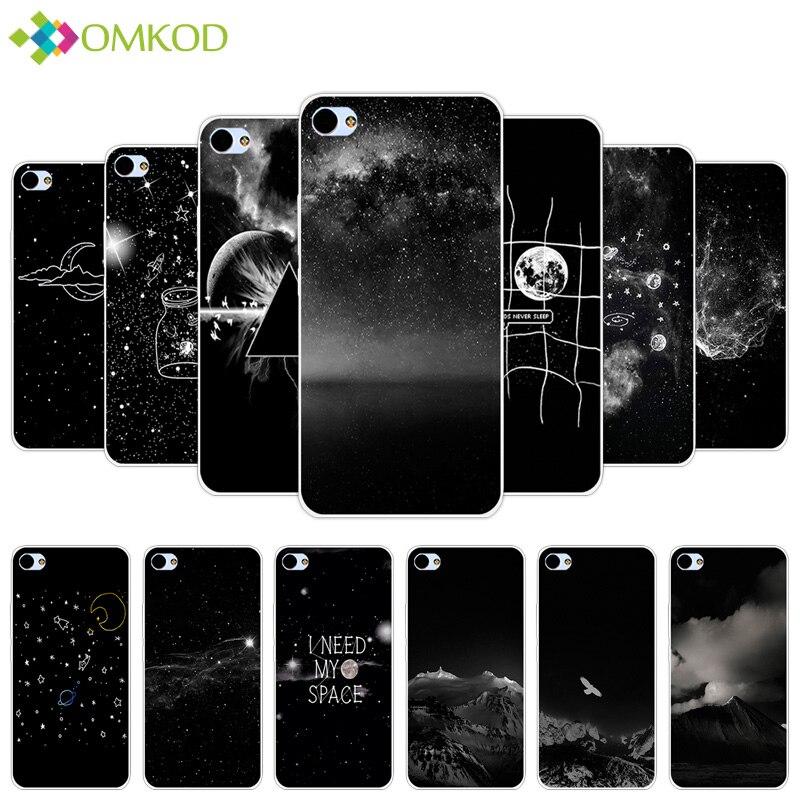 5.0'' For Meizu U10 Fundas Black Back Matte Starry Cover For Meizu U 10 Soft TPU Silicone Coque For Meizu Meilan U10 Phone Case