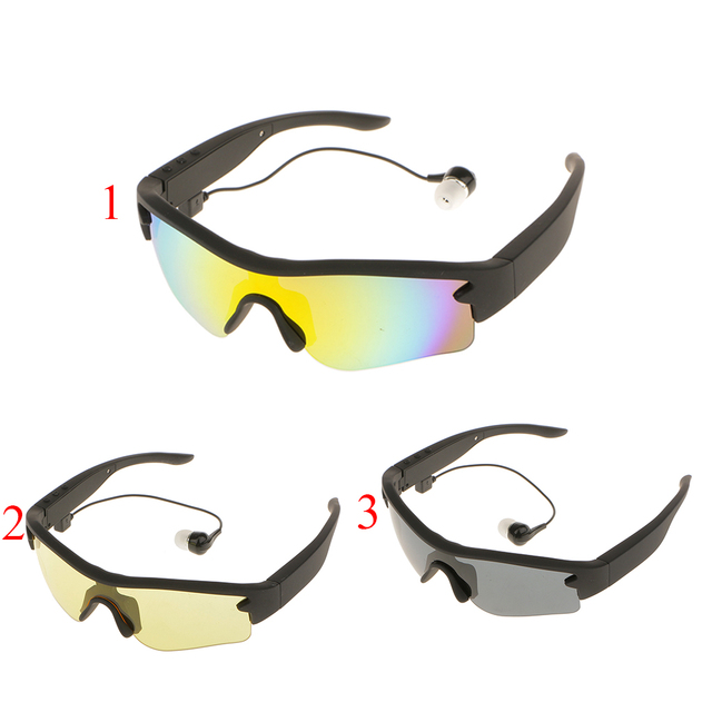 Sport Smart Eyes Glasses Sunglasses Foldable Wireless Bluetooth 4.0 Hands-free Stereo Headset with Polarized Glasses