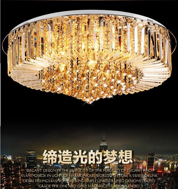spot groothandel eenvoudige ronde k9 crystal plafondlamp led woonkamer eetkamer verlichting lampen