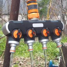 4 Way Hose Splitter Garden Hose Splitter  Hose Connector Outdoor Faucet Drip Irrigation Systems & Lawns Product girls standing on lawns
