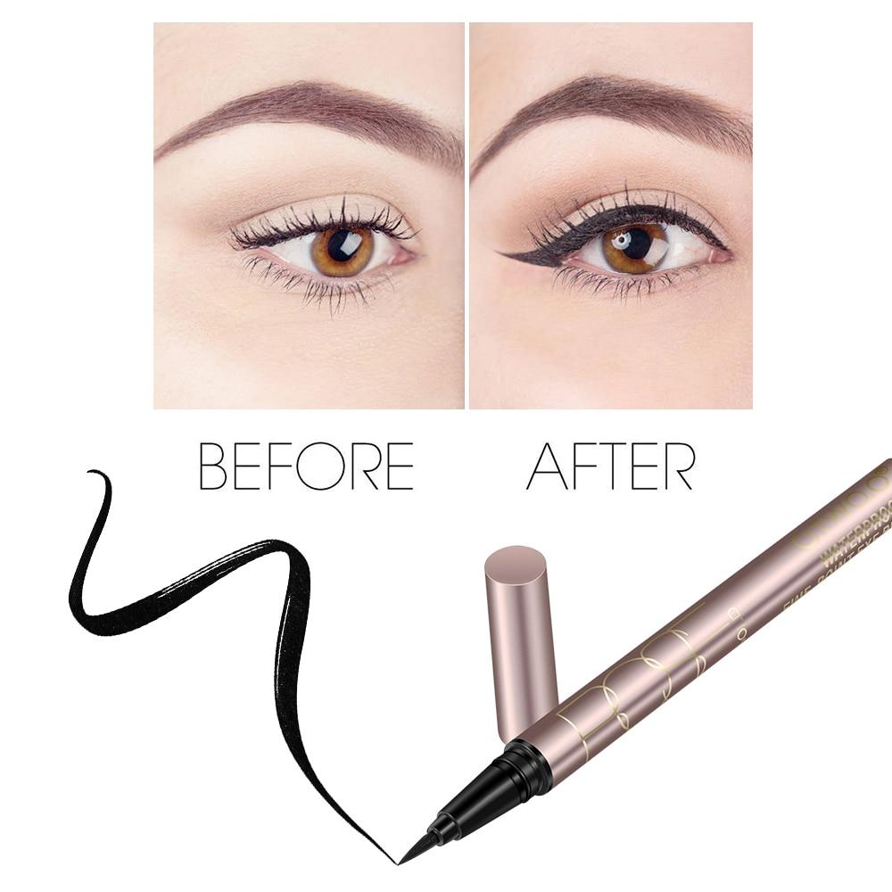 O.TWO.O Black Liquid Eyeliner Eye Make Up Super Waterproof Long Lasting Eye Liner Easy to Wear Eyes Makeup Cosmetics Tools 3