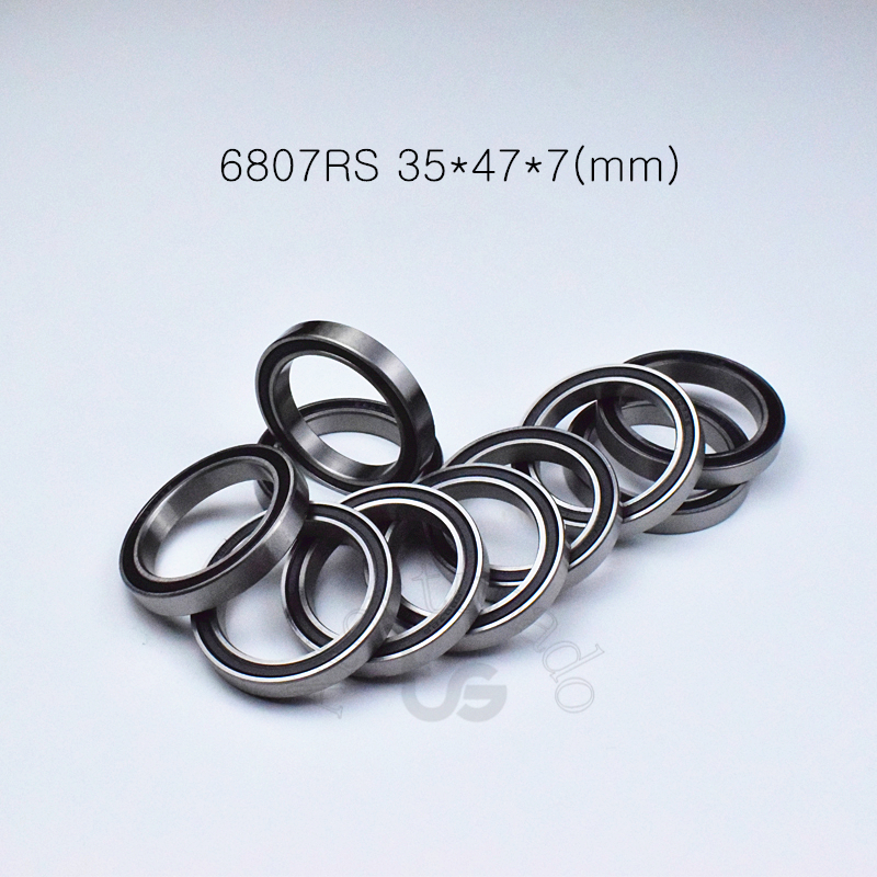 6807RS 35*47*7(mm) 1Piece Bearing Metal Sealed Bearing  6807 6807RS Chrome Steel Deep Groove BearingS