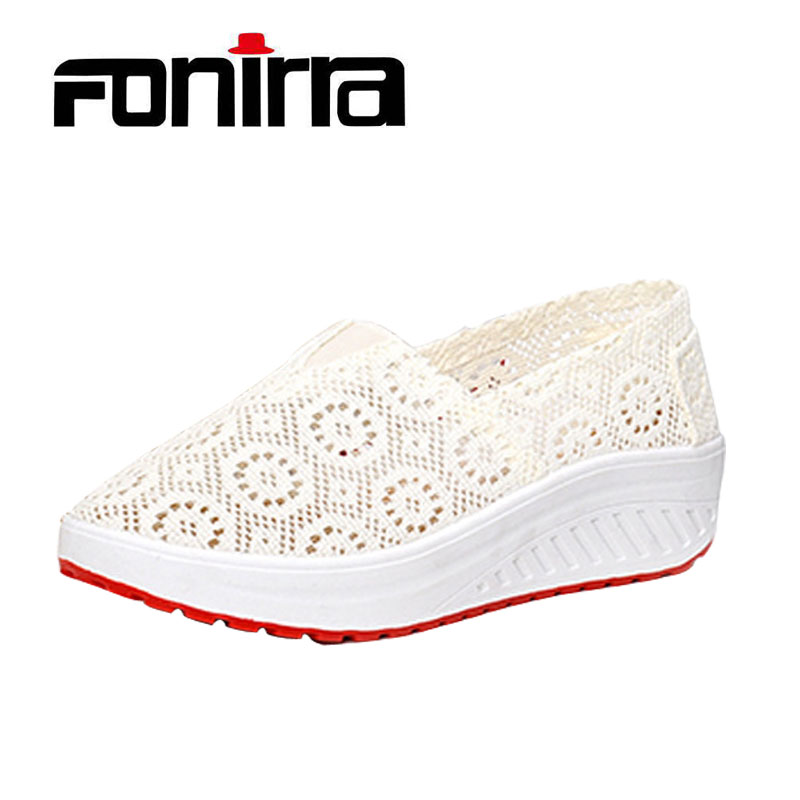 Casual Breathable Women Shoes Platform Shake White Lace Shoes For Girls Comfortable Flat Take A Walk Women Shoes FONIRRA 165 free shipping candy color women garden shoes breathable women beach shoes hsa21