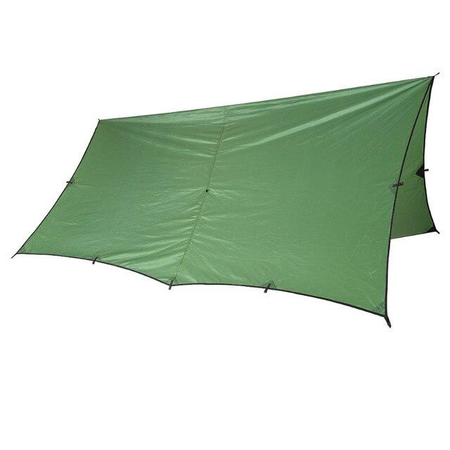OneTigris RipStop Tarp Sun Shelter 3*3m Compact Versatile Durable Backpacking Tarpaulin Beach Tent Awning 100% Waterproof