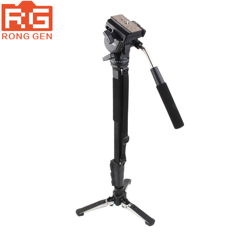 YUNTENG 288 YT-288 Monopod & Fluid Pan Head Ball & DV Unipod Mobile Phone Clip Holder For Canon Nikon DSLR VCT-288