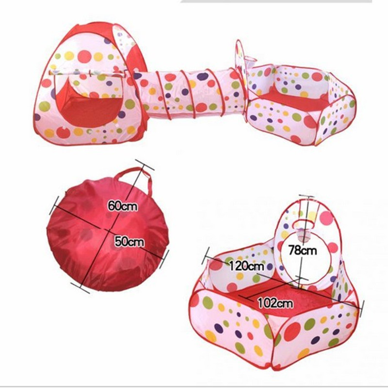 Free Shipping Kids Play House Baby Play Yard Ball Pool Tent Pipeline Crawling Huge Game Ocean Ball Pool Baby Educational