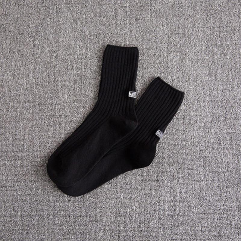 BINYUXD Cotton Sock Men Solid 2017 Autumn Winter Thicken Korea Style Black White Grey Khaki Army Green Coffee