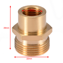 """1pc Washer Adaptor Fitting Snow Foam Lance Adapter Coupler Connector 1/4"""" F   M22 for Water Pot Car Washing Tools Mayitr"""