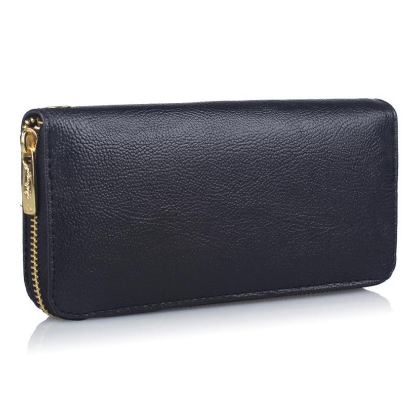 Transer Women's Wallets Cowhide Leather Wallet Luxury Design Fashion Unisex Pure color Road Wallet Coin Bag Purse z6 35