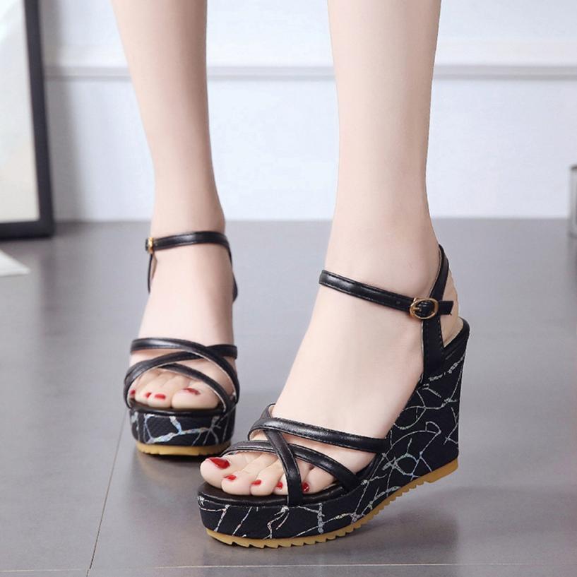 mokingtop shoes woman sandals Women Fish Mouth Non slip Platform High Heels Sandals Buckle Slope Sandals Summer Shoes ##-in High Heels from Shoes on Aliexpress.com | Alibaba Group