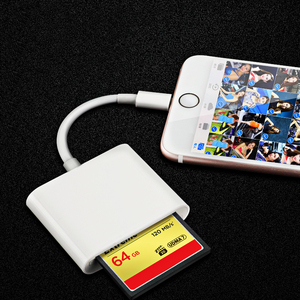 Image 5 - Triple CF TF SD Card Reader Digital Camera Kit 256G Support Neednt APP Lightning OTG Adapter For iPhone iPad iOS 9.2 Newest