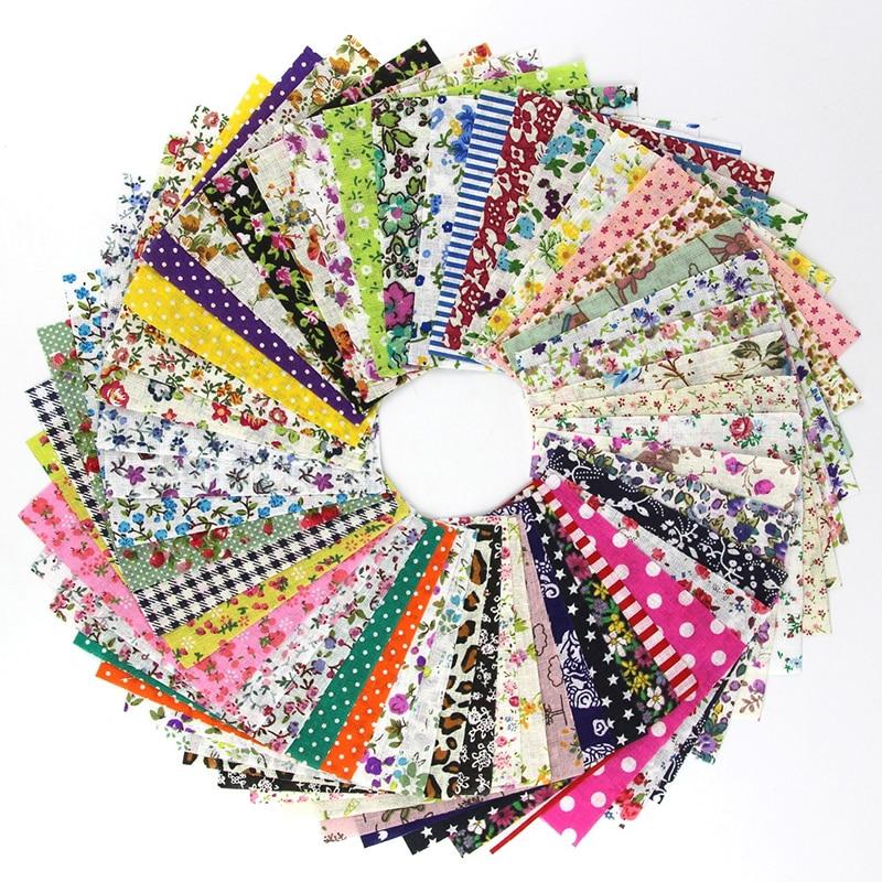 50 Pcs 10*10cm Cotton Fabric  diy Patchwork Handmade Charm Pack Patchwork Bundle Fabrics DIY Quilting Sewing Textile Material