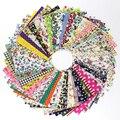 50 unids 10 10 cm de tela de algodón diy Patchwork hecho a mano Charm Pack Patchwork Paquete de telas DIY acolchado costura textil Material