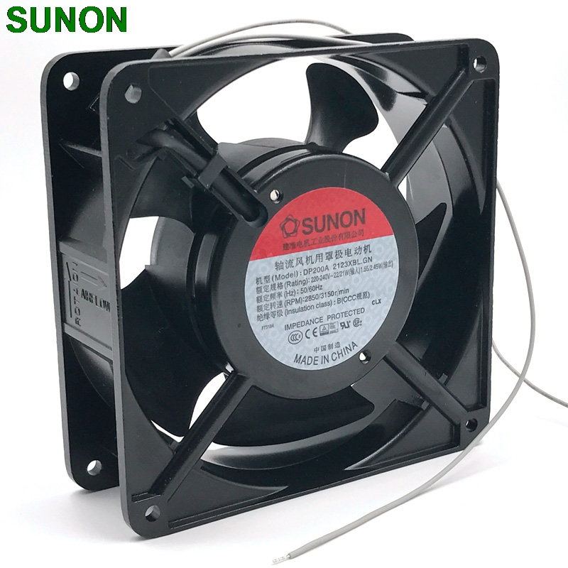 все цены на SUNON 12038 DP200A 2123XBL fan exhaust fan 220V 12CM 120*120*38MM 1238 12038 double ball kitchen cooling fan онлайн