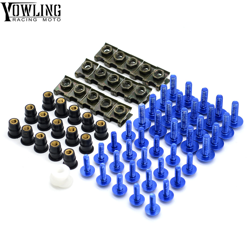 Motorcycle Windshield Bolt Screws Nut Fastener Fairing For Suzuki V-Strom 650 ABS <font><b>1000</b></font> ABS Adventure <font><b>DR</b></font>-Z400S GSF650 BANDIT image