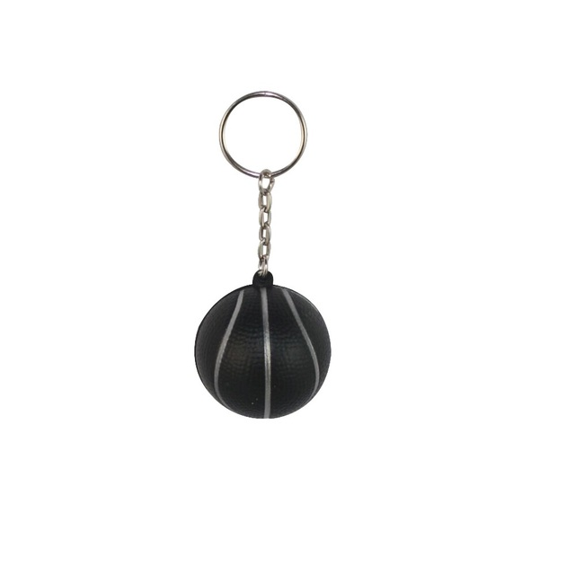 US $650 0 |Black Basketball Ball 4cm Soft Keychains Key Chain Key Ring  Plastic Crafts Pendant Printed LOGO Advertising Promotional Products-in