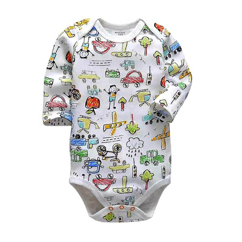 newborn bodysuit baby babies bebes clothes long sleeve cotton printing infant clothing 1pcs 0 24 Months in Bodysuits from Mother Kids