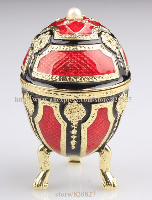 Vintage Egg Trinket Box Egg Trinket Box with Pearl and Crystals Easter Egg Trinket Box Faberge-Style Collectible Enameled Egg сумка для ноутбука pc pet pcp 1001tq