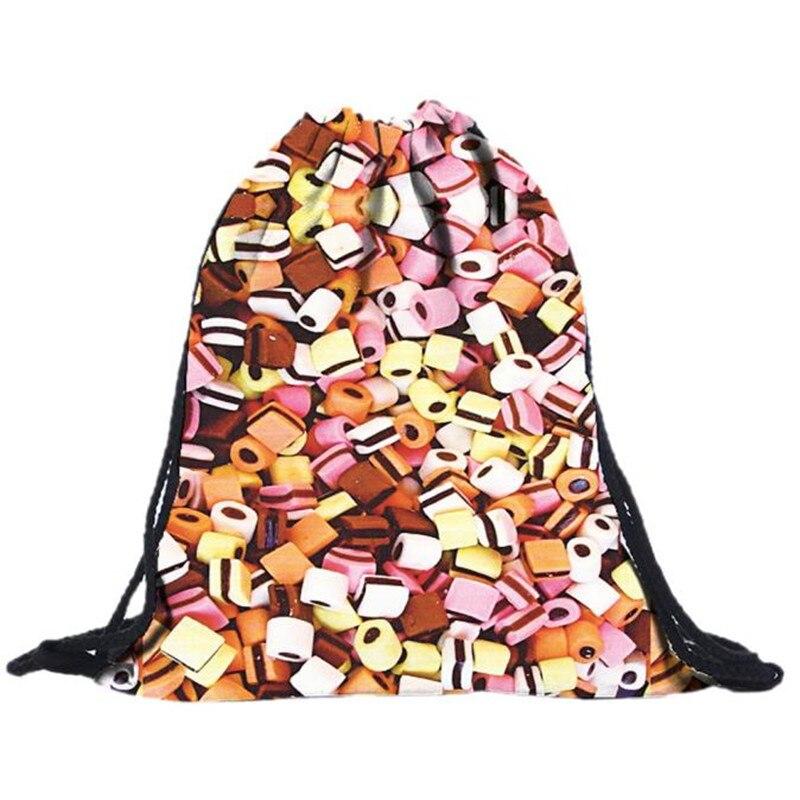 Fashion Drawstring Backpack 2019 Unisex Backpacks 3D Printing Bags Drawstring Backpack