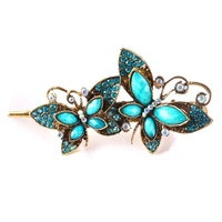 Hot Sale Women Hair Jewelry Vintage Brand Butterfly Crystal Women S Hair Clips Hairpins Ladies Hair