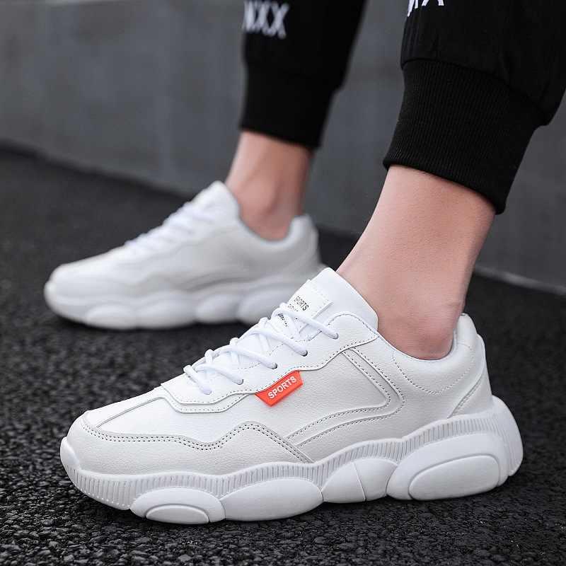 2020 yeni bahar erkek ayakkabıları moda ayakkabı küçük beyaz tahta ayakkabı vahşi rahat ayı beyaz ayakkabı eski gelgit ayakkabı Zapatos Hombre