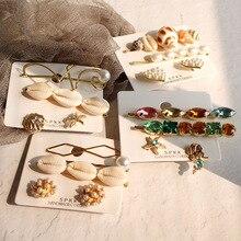 Bride Sale Limited Coroa Tiara De Noiva 2019 Fashion Korea For Women Girls Hair Clip Set Shell Handmade Pins Accessories
