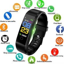 2019 Smart Band для мужчин женщин сердечного ритма и приборы для измерения артериального давления Браслет фитнес калорий спортивные часы