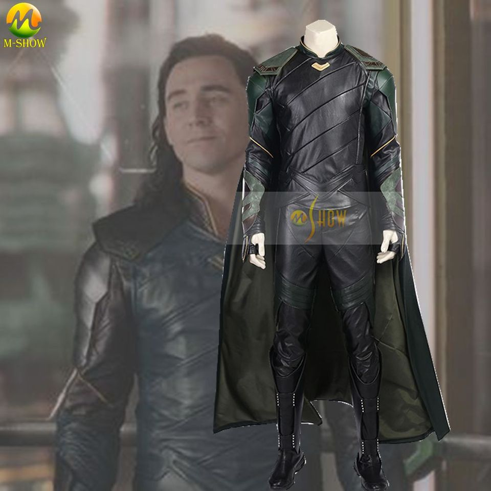 Top Quality Thor Ragnarok Loki Cosplay Costume Loki Costume Thor 3 Ragnarok Cosplay Dress For Halloween Men Boots Cloak Cosplay Costume Costumes For Adultshalloween Cosplay Aliexpress