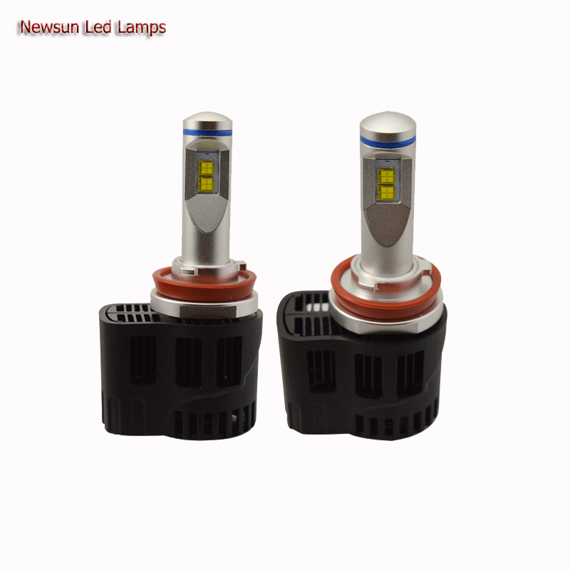 Auto Car 55W 5200Lm Led Headlight Canbus Kit H11 3000K/4000K/5000K/6000K Replace Halogen Bulbs Easy Installation DC11-30V дефлектор auto h k gt 36964
