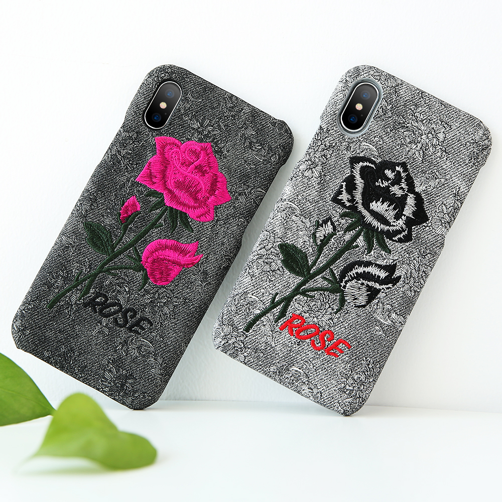 FLOVEME For iPhone 7 iPhone 6 6S Case Art Rose Handmade