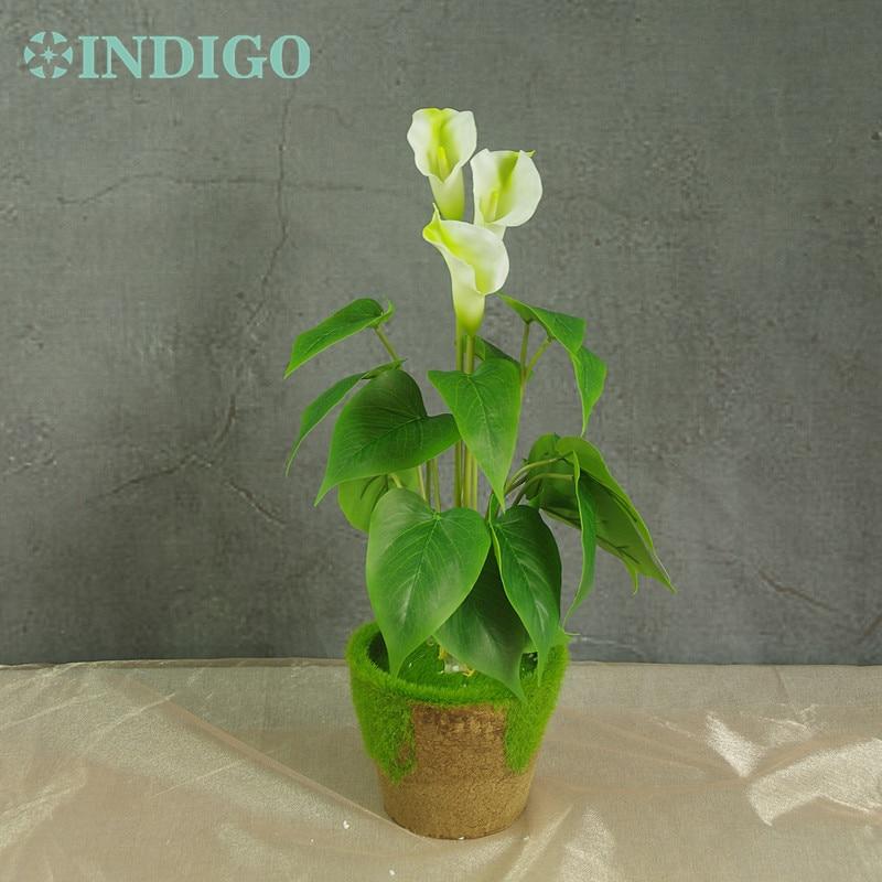 INDIGO- Sunset Calla Bouquet (18 piezas Hojas + 3 piezas Flores + - Para fiestas y celebraciones - foto 3