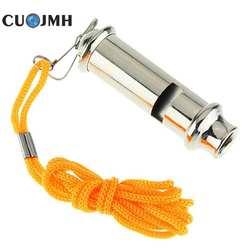 1 шт Нержавеющаясталь уличный инструмент для кемпинга для спорта на открытом воздухе ГАИ безопасности свисток Портативный металла