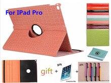 """Caso Tablet Para iPad Pro 12.9 """"crocodilo Padrão de Couro Flip Capa Protetora Para iPad Pro 12.9"""" 360 Casos de Rotação de Proteção"""