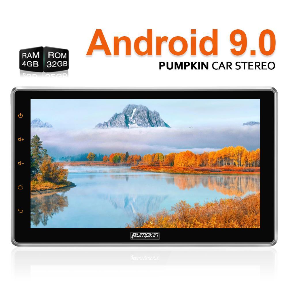Citrouille 2 Din 10.1 ''Android 9.0 Radio universelle octa-core 4 GB 32 GB voiture stéréo Audio pas de lecteur DVD GPS Navigation Wifi OBD2 DAB