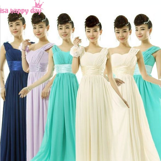 US $24.63 6% OFF|turquoise green plus size lilac lace up back bridesmaid  floor length bridesmaids dresses long blue occasion women dress B2696-in ...