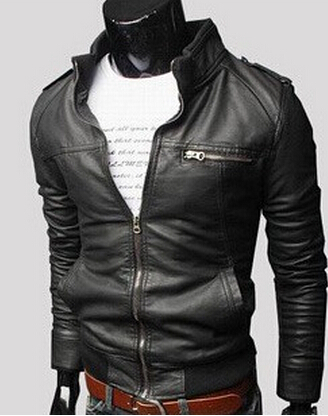 Man Leather Jacket Windproof 3 Colors Motorcycle Slim Fit Retro Spring Mens PU Leather Jackets Casual Coat 2016 Top Quality