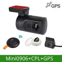 Mini Car DVR Dash Camera GPS Cam 0906 Novatek 1080P 60FPS Ultra HD Digital Video Recorder Super Capacitor Registrar DVR Dropship